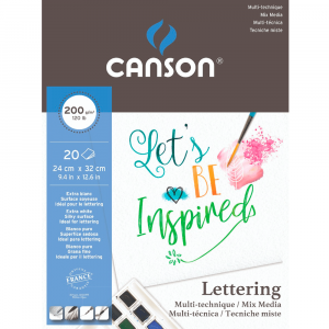 Bloco Para Lettering Canson Mix Media A4 200g/m² 20 Folhas