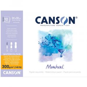 Bloco de Papel Para Aquarela Montval Canson A4+ 300g/m²