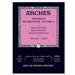 Bloco Papel Aquarela Arches 300g