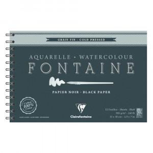 bloco papel aquarela preto clairefontaine fontaine