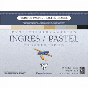 papel para pastel clairefontaine ingres 130g