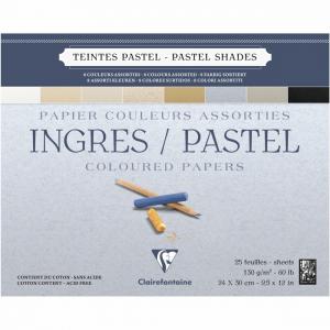 papel para pastel ingres clairefontaine 130g