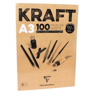 Bloco de Papel Kraft Clairefontaine A3