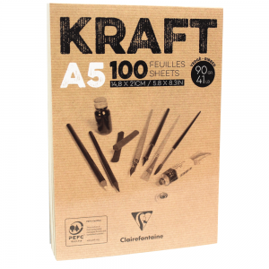 Bloco de Papel Kraft Clairefontaine A5
