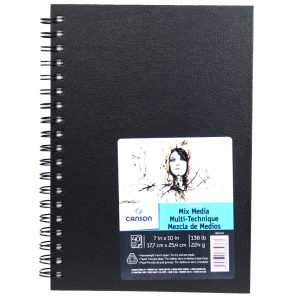 Bloco de Sketch Book Mix Media Canson 17,7X25,4cm 40 folhas