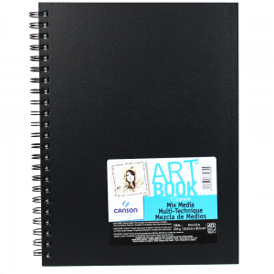 Bloco de Sketch Book Mix Media Canson 22,9X30,5cm 40 folhas