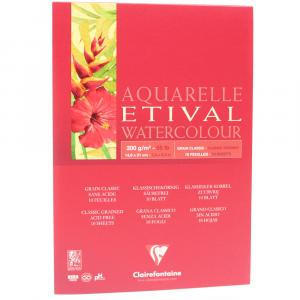 Bloco de Papel Para Aquarela Etival A5 200g Clairefontaine