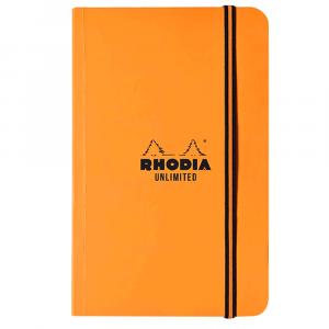 Bloco Rhodia Unlimited 9x14cm Capa Laranja