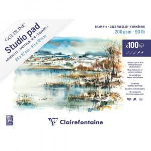 Bloco de Papel Para Aquarela Studio Pad 24x32cm 200g Clairefontaine