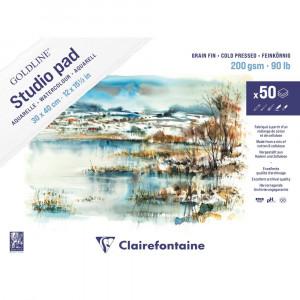Bloco de Papel Para Aquarela Studio Pad 30x40cm 200g Clairefontaine