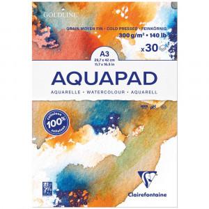 Bloco de Papel Para Aquarela Aquapad A3 300g Clairefontaine