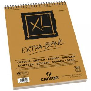 Bloco de Papel Canson XL Extra White 90g/m² A3