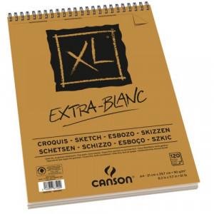 Bloco de Papel Canson XL Extra White 90g/m² A5