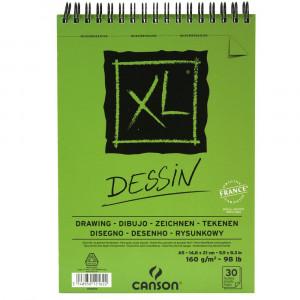 Bloco de Papel Canson XL Dessin 160g/m² A5