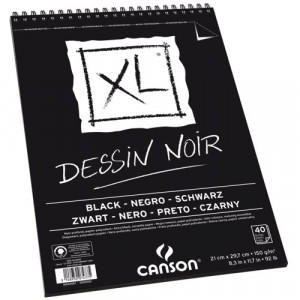Bloco de Papel Negro Canson XL