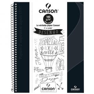 Caderno Para Desenho Canson A4 40 Folhas - Preto
