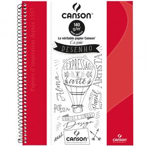 Caderno Para Desenho Canson A4 40 Folhas - Vermelho