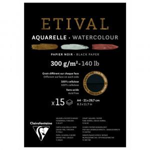 Bloco de Papel Para Aquarela Negro Etival A4 300g Clairefontaine