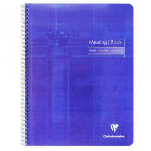 Caderno de Anotações Meeting Book Clairefontaine A4+ Azul