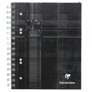 Caderno Quadriculado Bind'O Block Clairefontaine 16x21cm Preto
