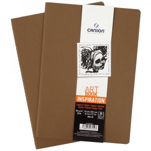 caderno sketchbook art book canson inspiration a4 marrom