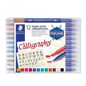 Estojo Caneta Calligraphy Staedtler 12 Cores