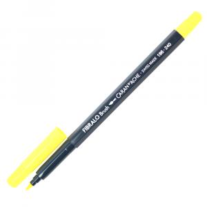 Caneta Aquarelável Fibralo Brush Caran d'Ache Amarelo 240