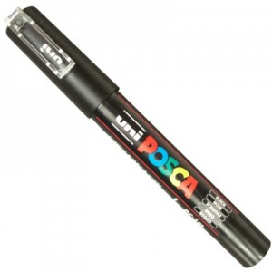 Caneta Posca Uni Ball PC-1MC Preto
