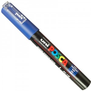 Caneta Posca Uni Ball PC-1MC Azul