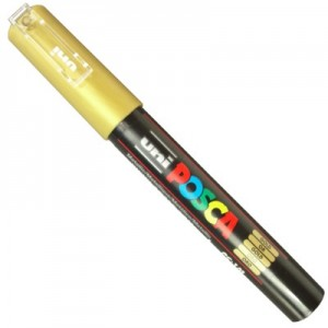 Caneta Posca Uni Ball PC-1MC Ouro