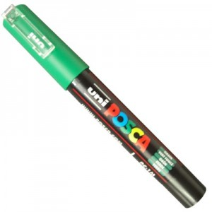 Caneta Posca Uni Ball PC-1MC Verde
