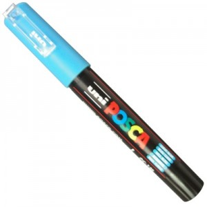 Caneta Posca Uni Ball PC-1MC Azul Claro