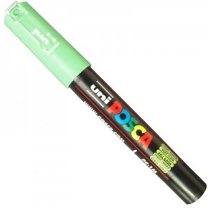 Caneta Posca Uni Ball PC-1MC Verde Claro
