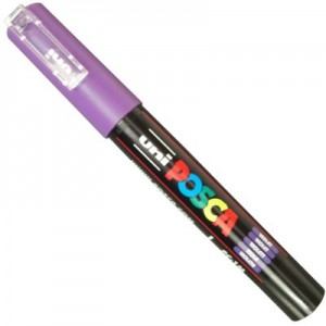 Caneta Posca Uni Ball PC-1MC Violeta