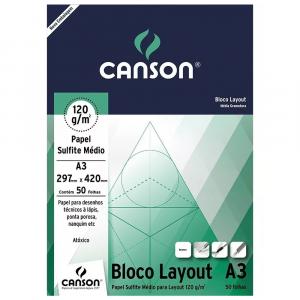Bloco de Papel Layout Canson 120g/m² A3