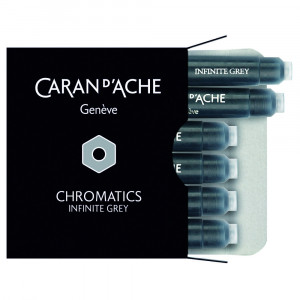 Cartucho Para Caneta Tinteiro Chromatics Caran d'Ache Infinite Grey 6 Unidades