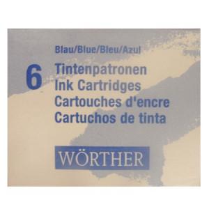 Cartucho de Tinta  Azul Para Caneta Tinteiro Worther