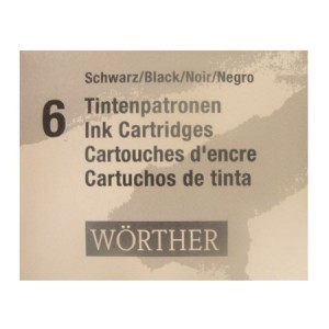 Cartucho de Tinta  Preto Para Caneta Tinteiro Worther