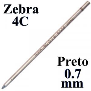 Carga de Caneta Zebra 4C Preto Esferográfica