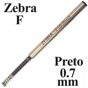 Carga de Caneta Zebra F Preto Esferográfica