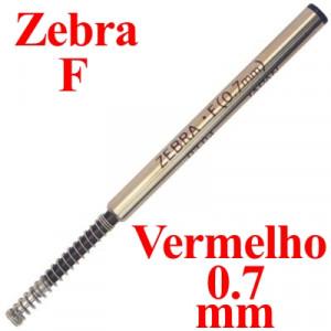 Carga de Caneta Zebra F Vermelho Esferográfica