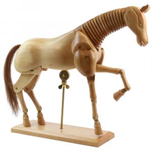 Cavalo Articulado de Madeira 30cm