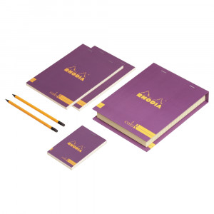 Conjunto The Essential Color Box Rhodia Purple