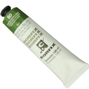 Tinta a Óleo Corfix 120ml 080 Óxido Cromo Verde