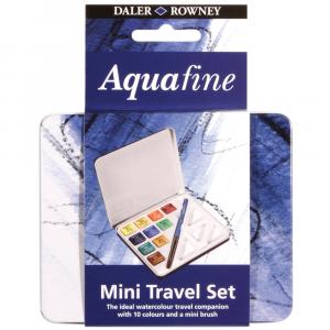 Estojo de Aquarela Pastilha Aquafine 10 Cores