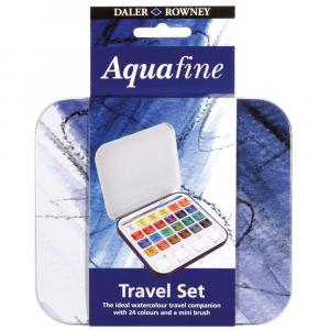 Estojo de Aquarela Pastilha Aquafine 24 Cores