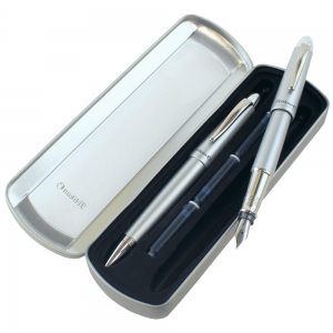 Estojo Caneta Pelikan Silverstar - Tinteiro e Esferográfica