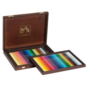 Estojo Caran d'Ache Luxo Madeira 60 Lápis