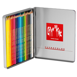 Lápis  Aquarelável Supracolor Caran D'Ache 18 Cores