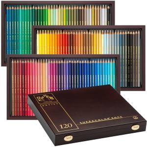 Lápis Aquarelável Supracolor Caran D'Ache 120 Cores Madeira